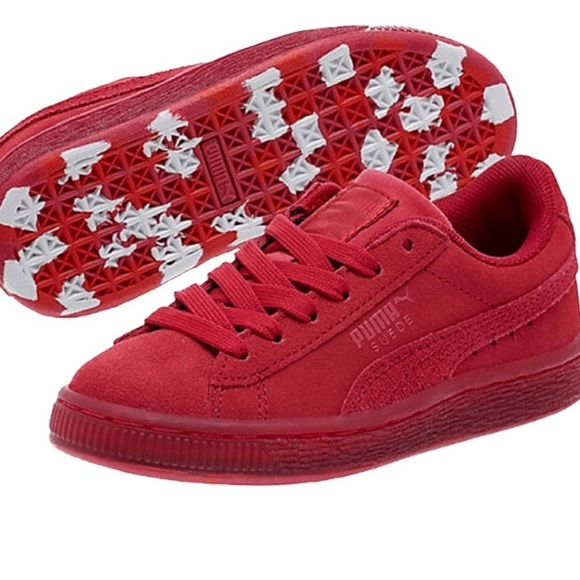 Puma suede classic ice mix jr rose red hibiscus